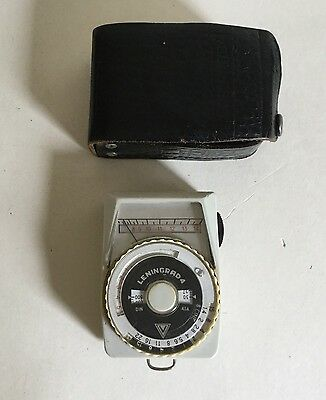 Vintage Leningrad 4 Photographic Light Meter & Leather Case Renovation Project