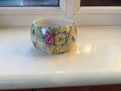 Lord Nelson Ware Rosetime Chintz Sugar Bowl 1930s