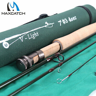 "Maxcatch 1/2/3WT Fly Fishing Rod 6'/6'6""/7'/7'6"" Graphite IM10 Fly Rod ,Rod Case"