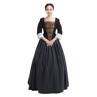 OUTLANDER TV SERIES cosplay costume Claire Fraser cosplay costume scottish  dress