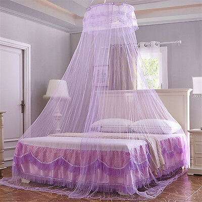 Round Lace Curtain Dome Bed Canopy Netting Princess Mosquito Net For Girls