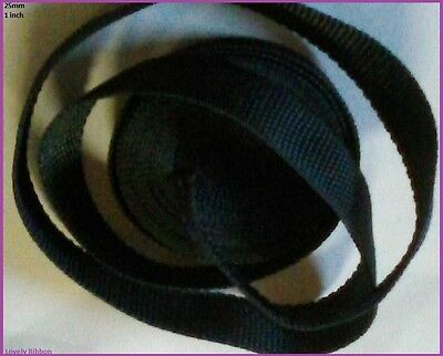 1 metre, BLUE, NYLON WEBBING, 25mm, Belts, Collars, Leashs, Straps, 1 inch, Bags