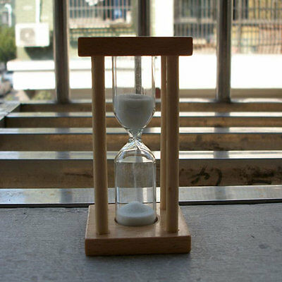 Wooden Hourglass Sandglass Sand Clock Timer for Kids Brushing 1/3/5minutes #S