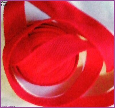 1 metre, RED, NYLON WEBBING, 25mm, Belt, Leashs, Straps, 1 inch, Collars, Bags
