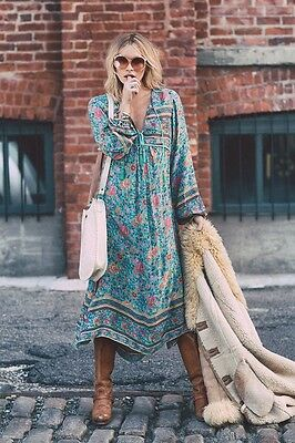 Spell And The Gypsy Designs Folktown Turquoise Maxi Dress Size S