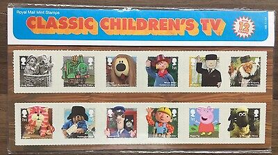 Royal Mail Classic Childrens TV Presentation Pack, Mint Stamps (12), 2014 No.493