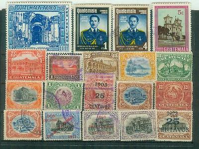 Lot Briefmarken aus Guatemala