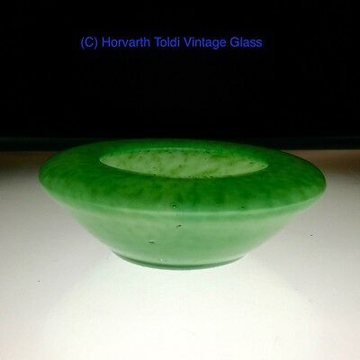 Nazeling / Gray Stan Green Mottled Glass Pin Dish 1930s
