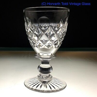 1930s Tudor Crystal  Capstan Shoulder Ball Knopped Port Glass