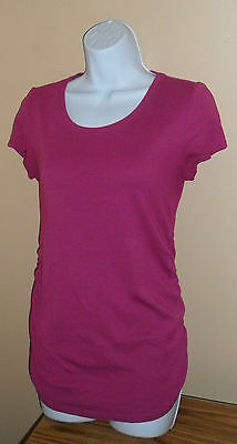 Motherhood Maternity Purple Blouse Short Sleeve Top Small