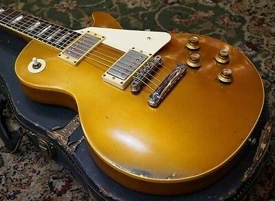 Gibson Les Paul Deluxe Gold Top Conversion 1973 Electric Guitar Free shipping