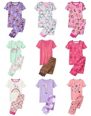NWT Gymboree Short Sleeve Girl 2pc Pajama Set Rainbow Unicorn
