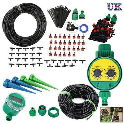 Uk Irrigation Watering Kit Tool Automatic Garden Plant Greenhouse Water System