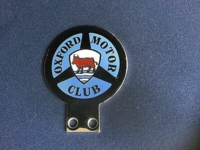 Oxford Motor Club Car Badge