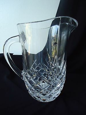 Beautiful Large Crystal Glass Water/Lemonade Jug - 1.5 pts
