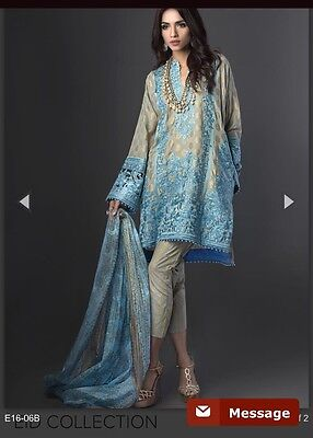 Original Brand New Sana Safinaz Eid Collection 2016 Stitched Suit Medium To Larg
