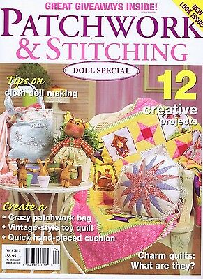 Patchwork & Stitching Magazine Dolls Special, Baby Children Quilting Patterns