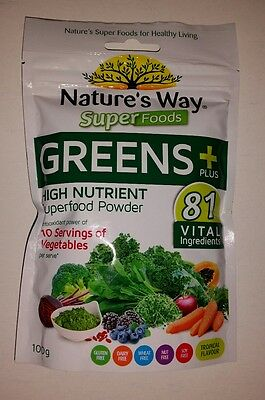 NATURE'S WAY Super Greens + 100g SUPERFOOD Powder FAST FREE POST