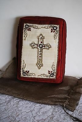 """NEW!! Jeweled Bible Carrying Case with Storage Bag 10""""X8"""""""
