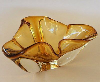 Vintage/Mid Century **MURANO ART GLASS - ITALY** Free Flowing Asymmetrical Bowl