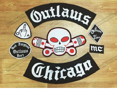Various Motorcycle club Patch 1% Biker Rider Vest MC Embroidered Patch