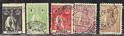 Ross1374: Angola Vintage Stamps Lot #1