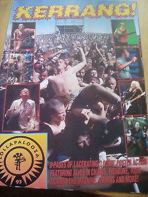 Lollapalooza 1993 Kerrang 8 Page pull out Alice in Chains Tool Babes in Toyland