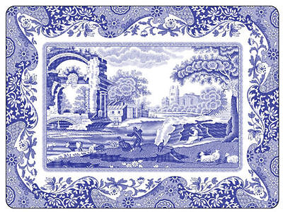 Spode Blue Italian Dinner  Place Mats Box of 4 New