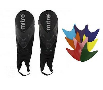 Mitre Stratum Football Shin Guards/Pads Large NEW - Changeable Colours