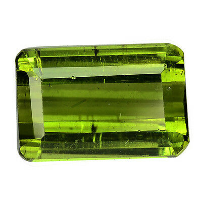 2.830Cts Magnetic Luster Green Natural Tourmaline Octagon Loose Gemstones