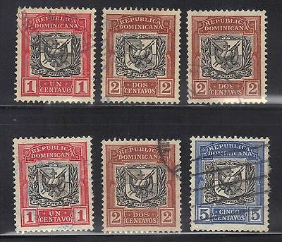 Ross1374: Dominican Republic Vintage Stamps Lot #1  1885-91 Coat Of Arms