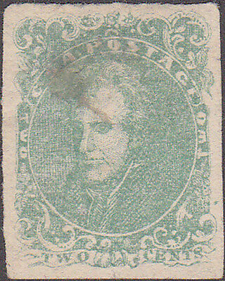 CSA GENUINE Confederate #3 Two Cent Stamp