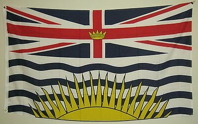 New 3' by 5' British Columbia Flag. Free Shipping in Canada!
