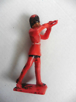 Cherilea  Plastic Toy  Bandsman Marching Playing Trumpet 1960's Rare