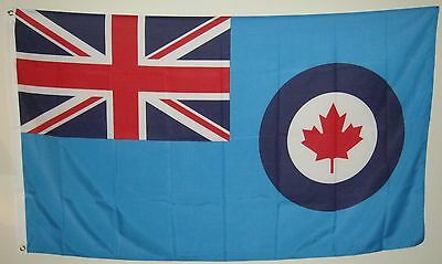 New 3' by 5' RCAF Flag with Union Jack. Free Shipping in Canada!