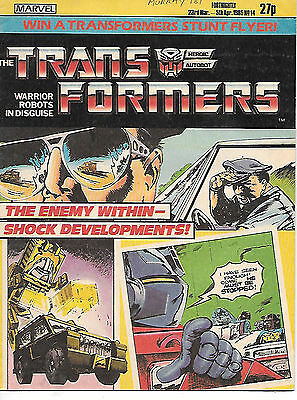 Transformers #14 (Marvel UK 1985, part colour, 32 pages) very high grade