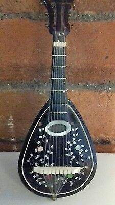 antique music box mandolin