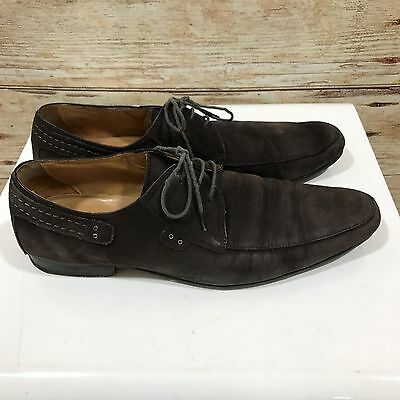 BALMAIN Brown Leather Lace Up Shoes Suede Casual Work Size EU 43 UK 10 A09461