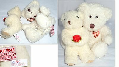 Russ Berrie Cream Color Bears True Heart & Friend Plush