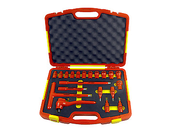 Insulated tools - Socket Set for AC 1000V, DC 1500V / 20pc
