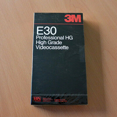 3M VHS E30HG Professional High Grade Recording Tape New Blank Sealed Cinta Video