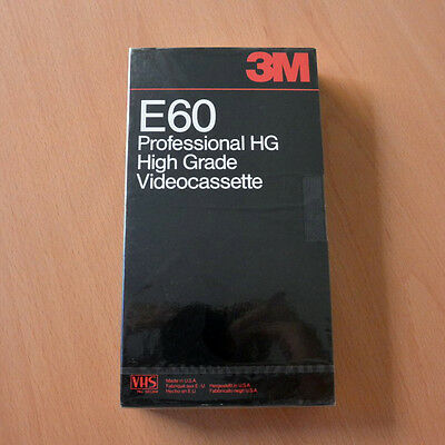 3M VHS E60HG Professional High Grade Recording Tape New Blank Sealed Cinta Video