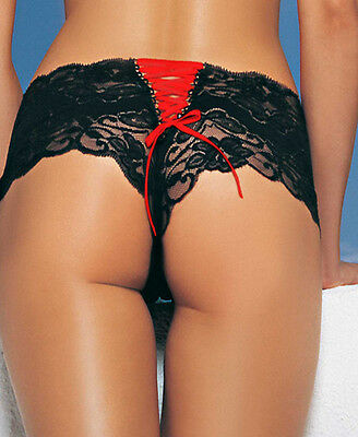 French Knickers Lace Up Back, Erotic Lingerie