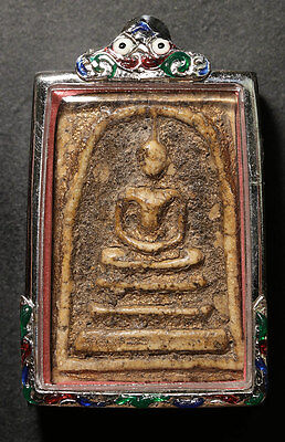 phra somdej toh wat rakang antique rare thai amulet the best holy Gold close @11