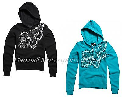 50% OFF SALE Fox womens breakdown hoody black or aqua XS S M L XL 6 8 10 12 14