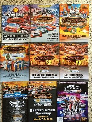 Motor Racing Programmes Collection V8 Supercars Bathurst 1000 Cars Various