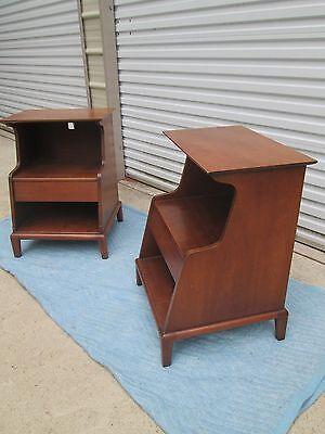 Henredon Heritage Pair Of Walnut Night Stands End Tables Mid Century Modern