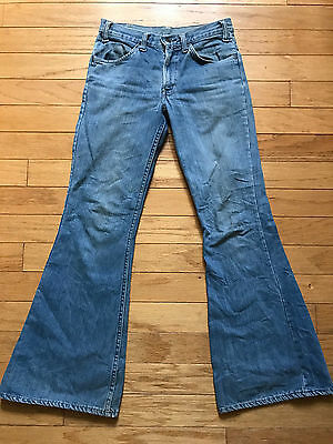 VINTAGE 1970's LEVI'S ORANGE TAB HIPPY BELL BOTTOM JEANS SIZE 28X32!