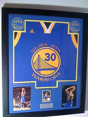 Stephen Curry Warriors Game Used Jersey Card Framed Auto Rp 1/1 Kobe Jordan