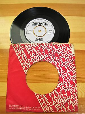 """Out of Time   CHRIS FARLOWE 7"""" Single   Immediate Label"""